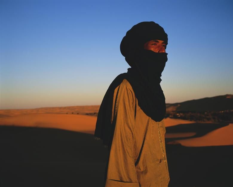 Tuareg guide Yahya in twilight. [Photo of the day - December 2011]