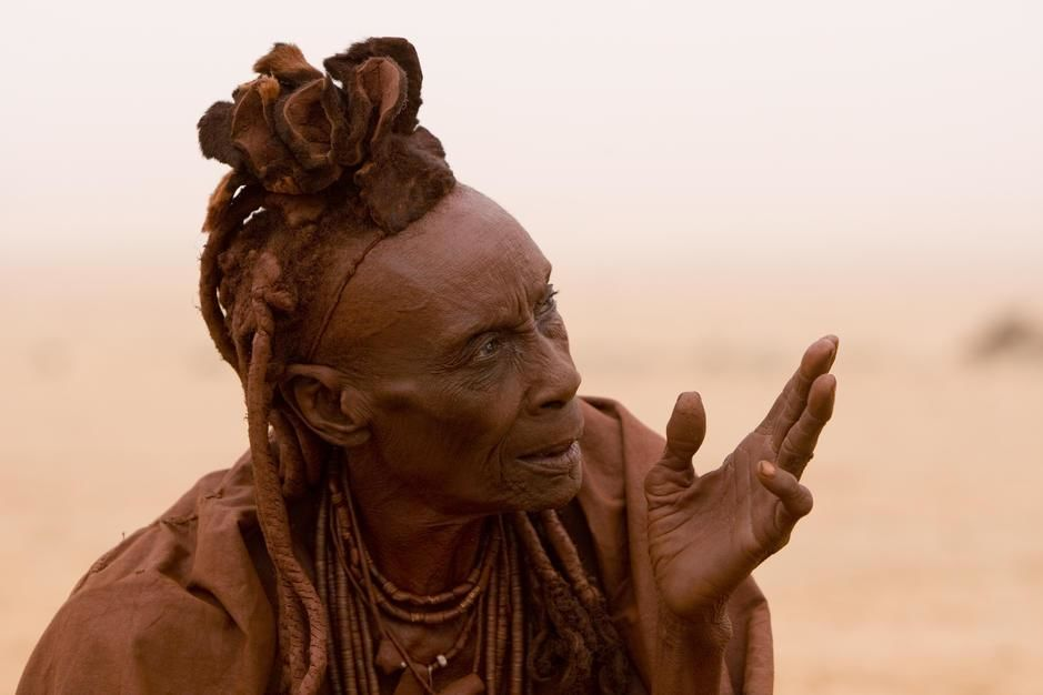 A portrait of a himba elder woman in Hartmann Valley. [Photo of the day - January 2012]