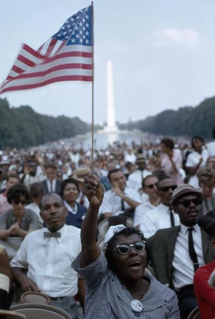 Today is Martin Luther King Day. Here freedom marchers gather at the Lincoln Memorial. [Photo of the day - January 2012]