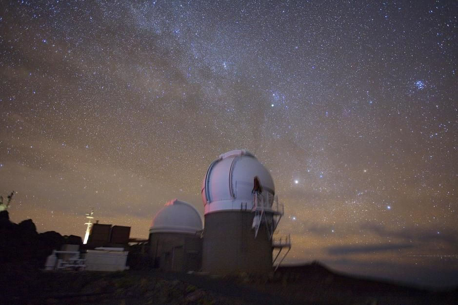The University of Hawaii Institute for Astronomy's PS1 observatory, Maui. [Photo of the day - February 2011]