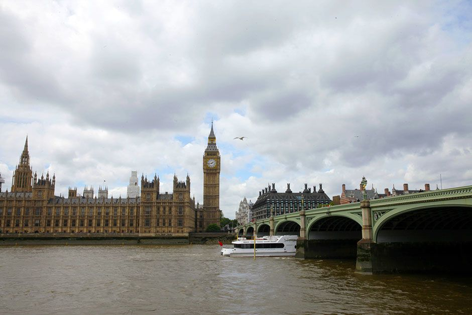 London, England: The Houses of Parliament on a cloudy day. This image is from Scam City. [Photo of the day - January 2014]