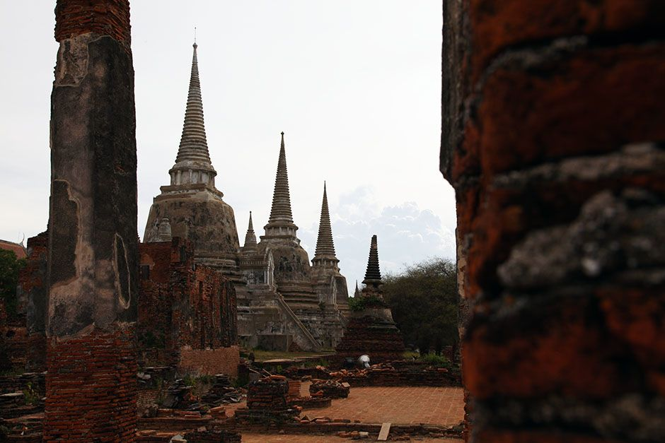 Ayutthaya, Thailand: The three main stupas at Phra Si Sanphet Temple located next to the Grand... [Photo of the day - 三月 2014]