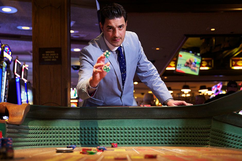 Las Vegas, Nevada, USA: Alexis Conran in Binions Casino where he does a spot of gambling. This... [Photo of the day - March 2014]