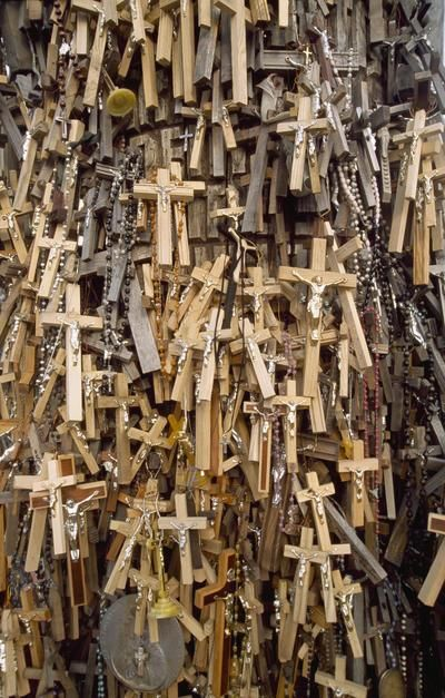 Rosaries and crucifixes left by pilgrims at the Hill of Crosses, Siauliai. [Photo of the day - March 2011]