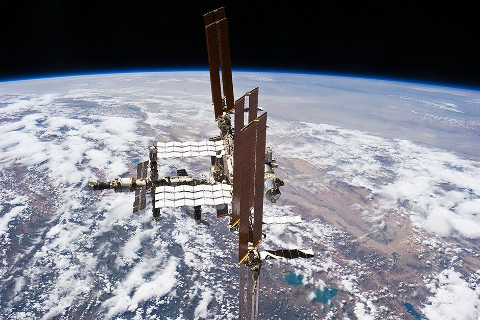 Space Station, July 19, 2011: This picture of the International Space Station was photographed... [Photo of the day - March 2014]