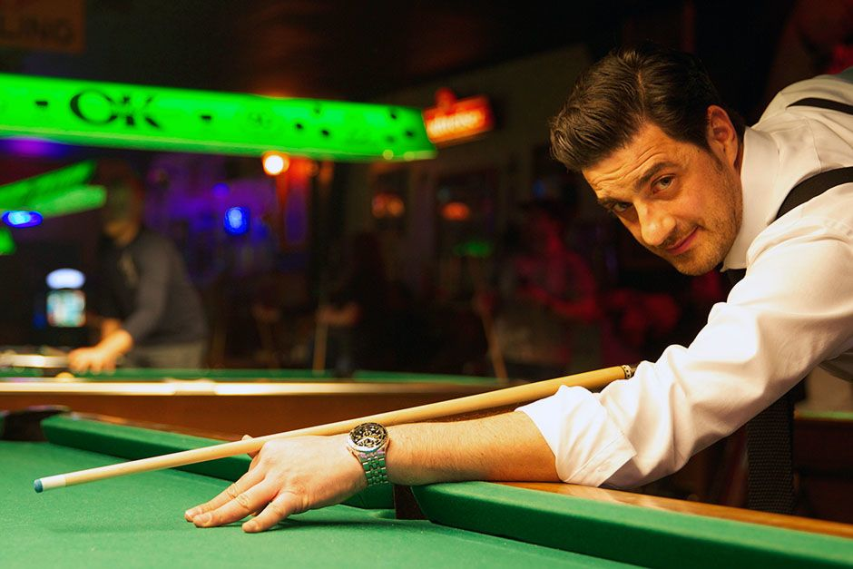 Joplin, Oklahoma, USA: Alexis Conran in a pool hall where he talked to pool hustlers. This image... [Photo of the day - March 2014]