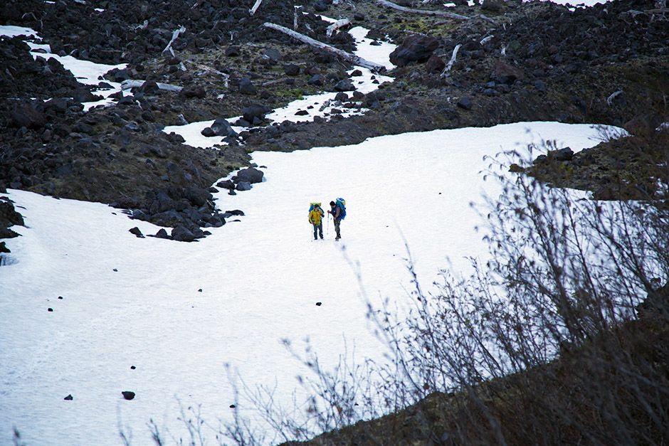 Kris Hartman and Tim Medvetz travel the snowy slopes of Mount St. Helens. This image is from... [Photo of the day - April 2014]