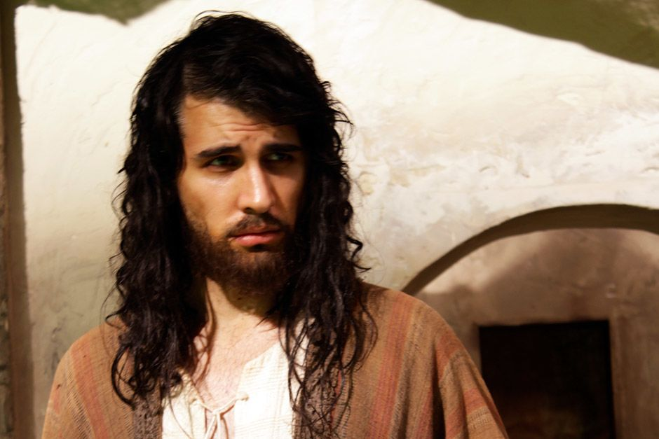 Dramatization: Nick Simmons as Jesus. This image is from The Jesus Mysteries. [Photo of the day - April 2014]