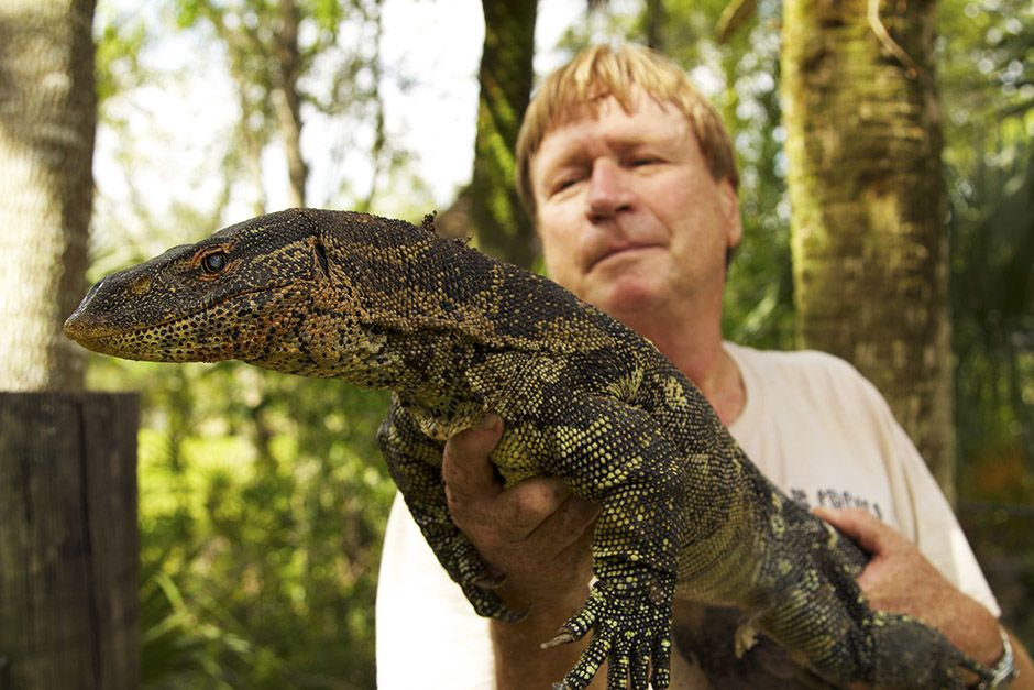 Miami, FL, USA: A Nile monitor in Joe Wasilewski 's hands. This image is from Access 360°:... [Photo of the day - أبريل 2014]