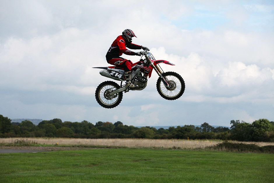 Dunsfold, Guildford, Surrey, UK: A motorbike professional performing a jump. This image is from... [Photo of the day - April 2014]