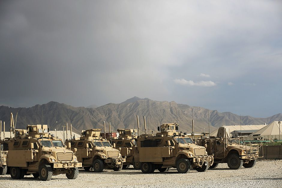 Bagram, Afghanistan: Some of the MRAPs used by Bagram's Reaper teams. This image is from Inside... [Photo of the day - می 2014]