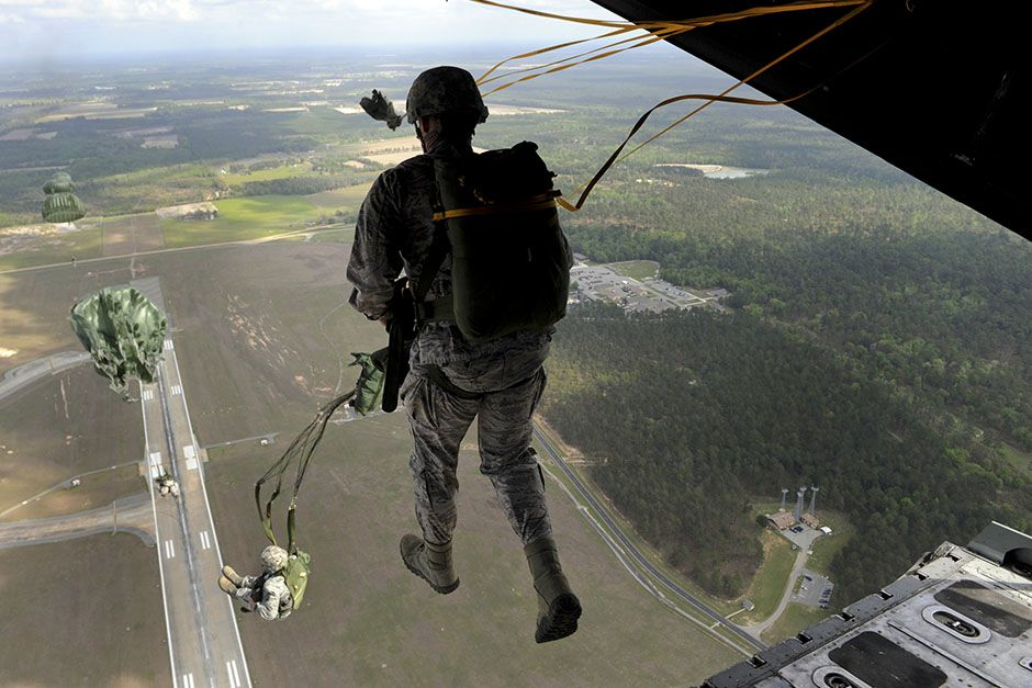 Moody Air Force Base, Valdosta, GA, USA: Reapers jump out the rear of an airplane during jump... [Photo of the day - May 2014]