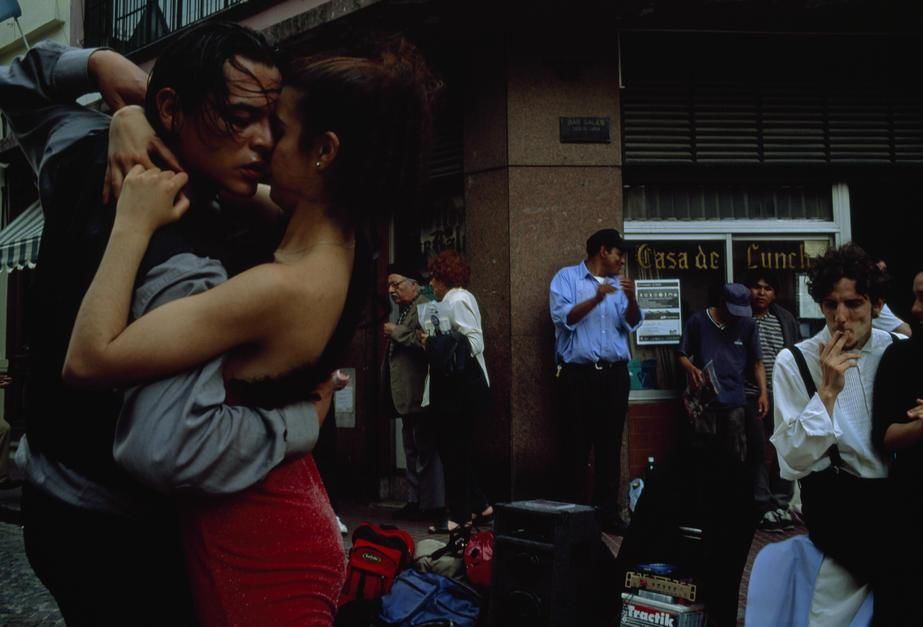 A passionate couple dance the tango on a South American street corner. [Photo of the day - March 2011]
