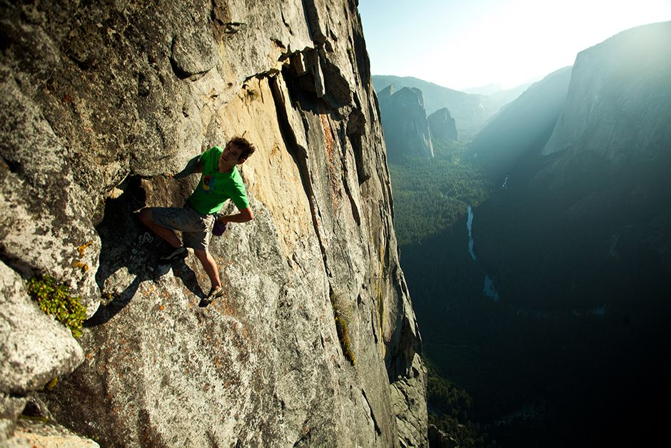 Yosemite National Park, California, USA: Honnold catches a rest in the middle of the... [Photo of the day - July 2014]