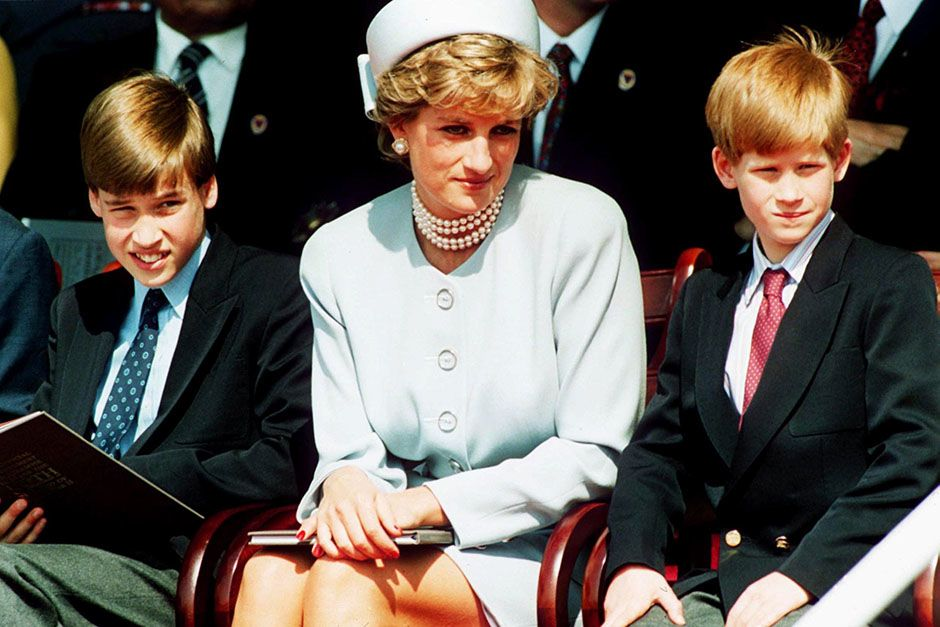 La Pricipessa Diana, Principessa del Galles con i figli Pricipe William e Principe Harry... [Foto del giorno - August 2014]