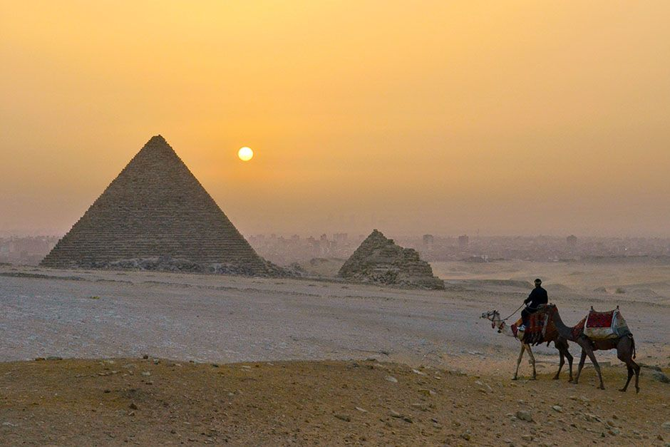 Egypt: Pyramids of Gizeh.  This image is from Wild Nile. [Photo of the day - August 2014]