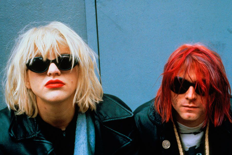 Courtney Love e Kurt Cobain, dalla band grunge Nirvana nel 1992. [Foto del giorno - August 2014]
