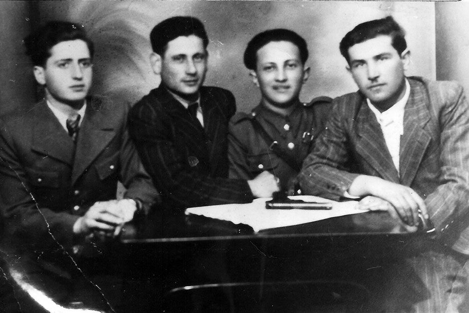 Philip Bialowitz, joined by other Sobibor escapees in Lubin 1944. This image is from Nazi Death... [Photo of the day - August 2014]