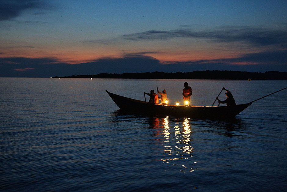 Fishermen in Lake Victoria. This image is from Wild Nile. [Photo of the day - August 2014]