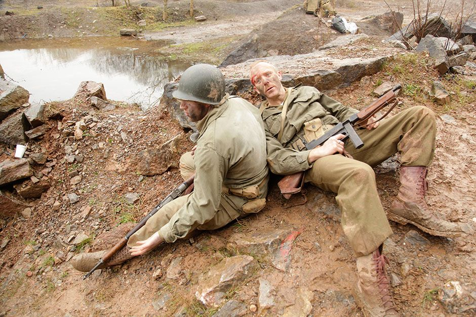 Reenactment: Lt Col James Rudder and an anonymous ranger. This image is from WWII's... [Photo of the day - August 2014]