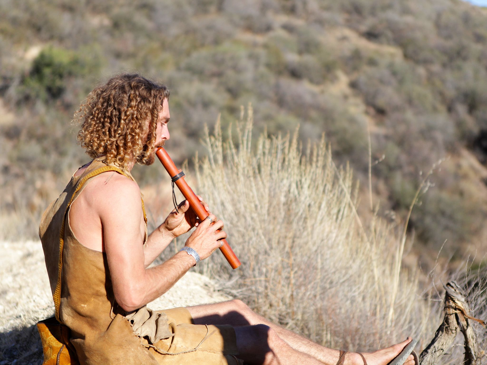 Santa Maria, CA, USA: Gabriel plays the flute. This image is from Live Free or Die. [Photo of the day - December 2014]