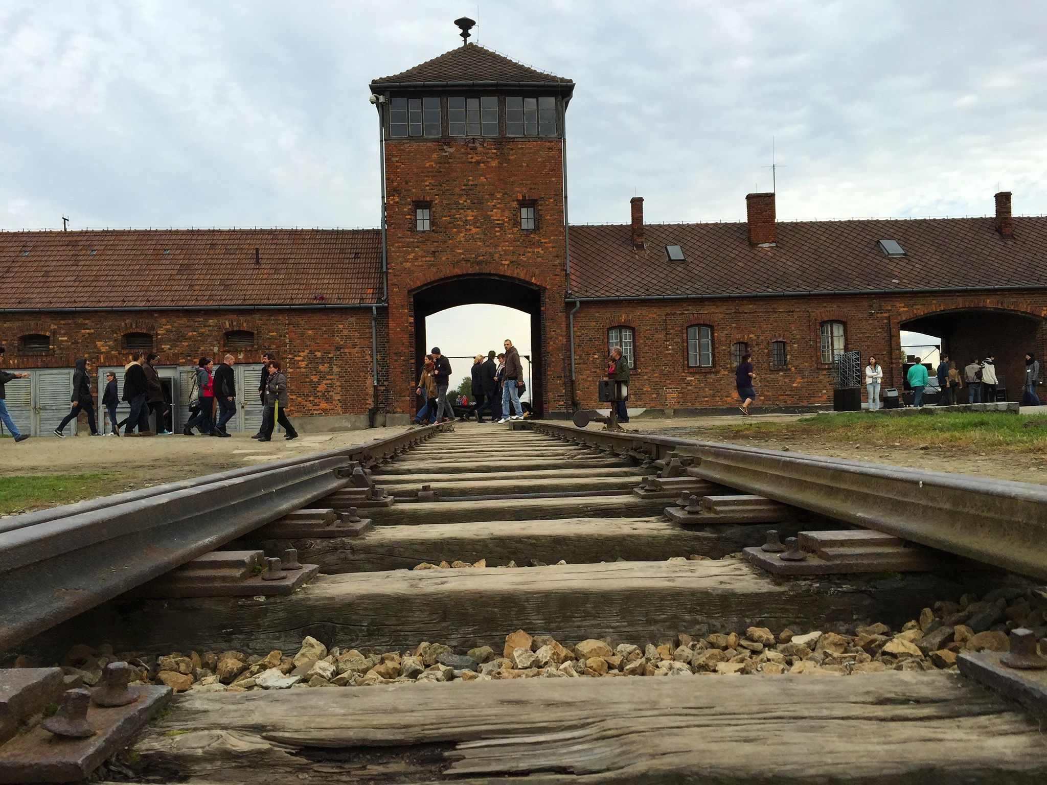 Birkenau, Auschwitz, Poland: The main camp entrance. This image is from After The Annex. [Photo of the day - مارس 2015]
