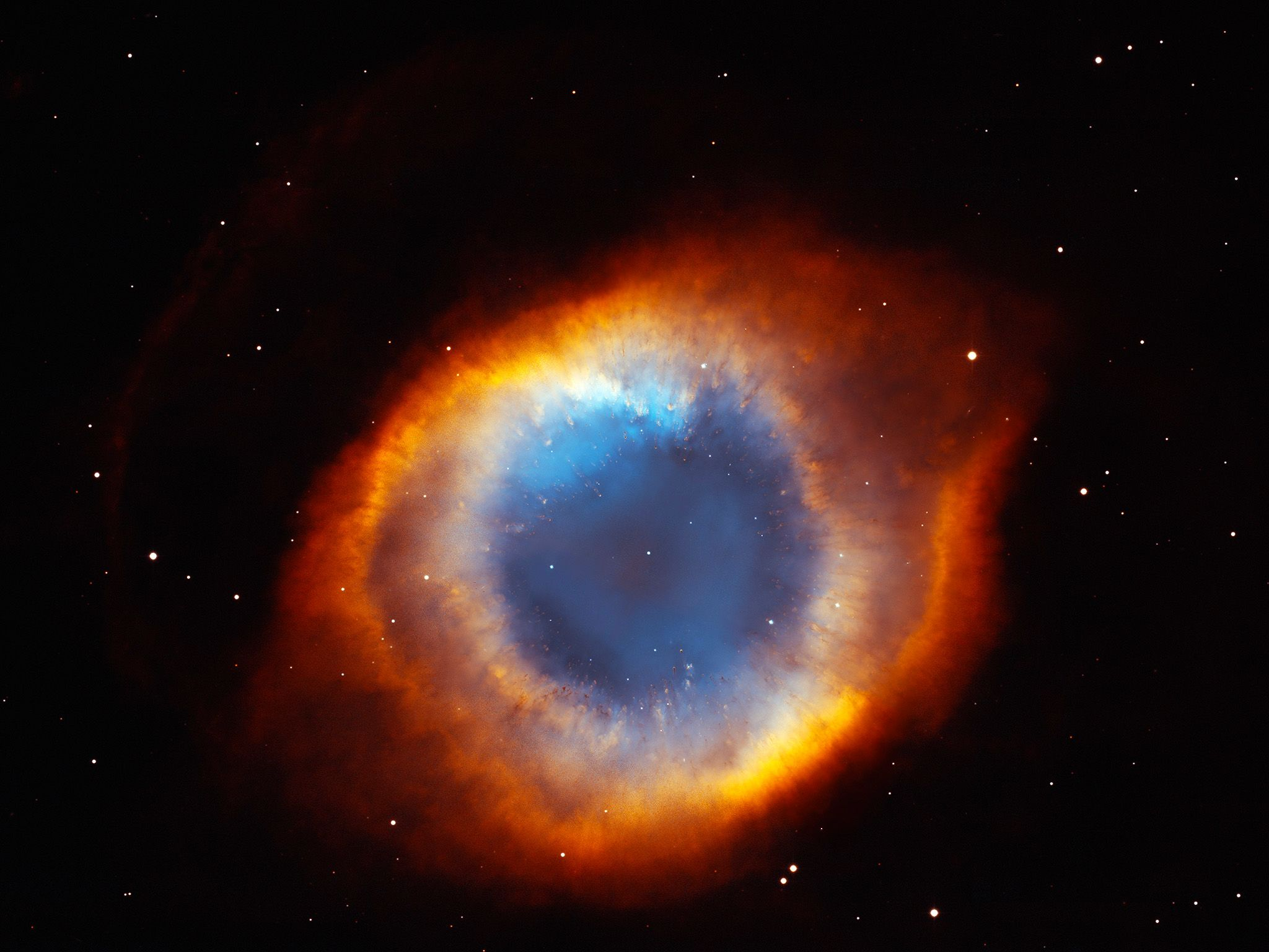 The coil-shaped Helix Nebula. This image is from Hubble's Cosmic Journey. [Photo of the day - آوریل 2015]