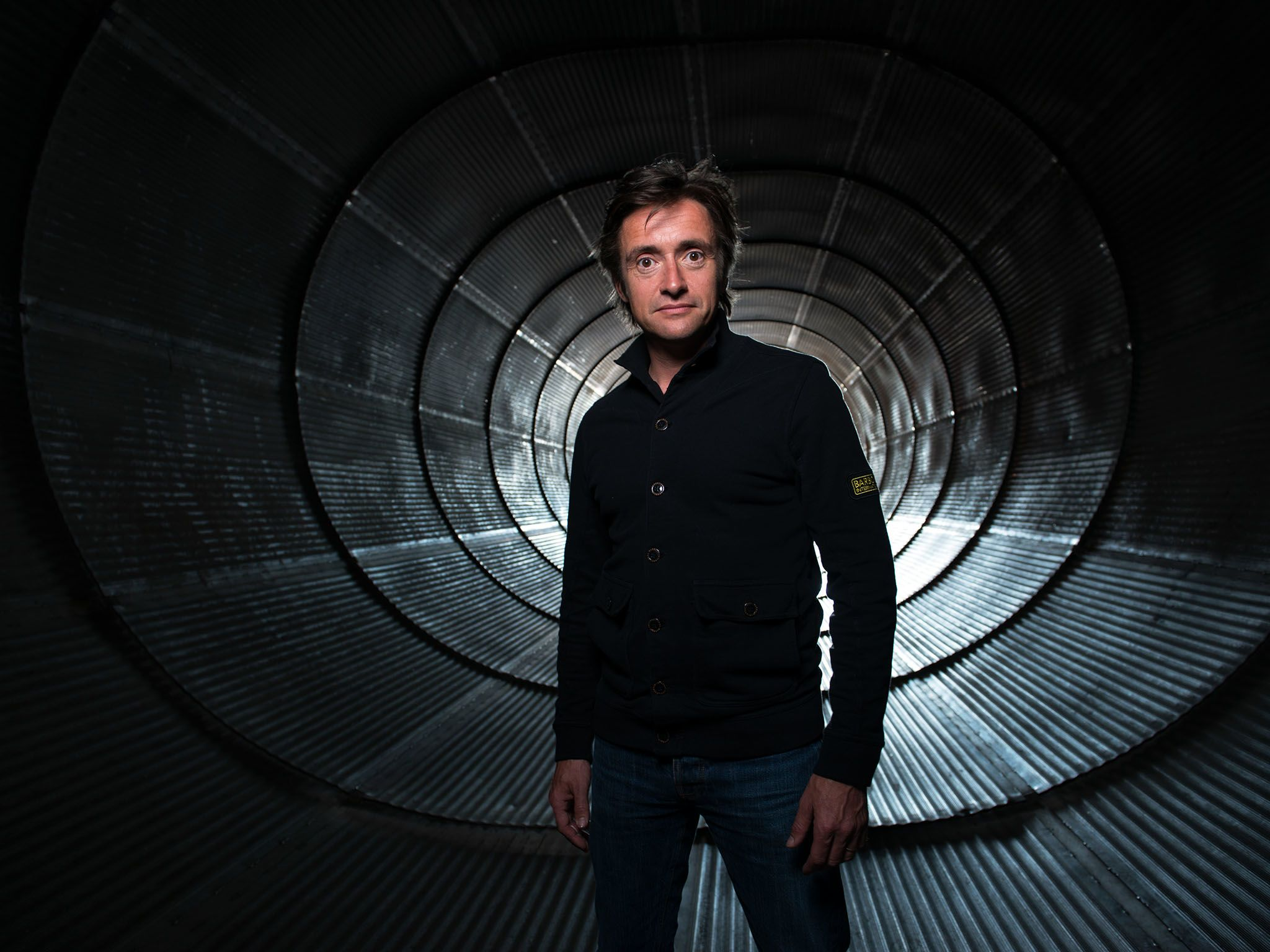Host Richard Hammond. This image is from Richard Hammond's Wildest Weather. [Photo of the day - اگوست 2015]