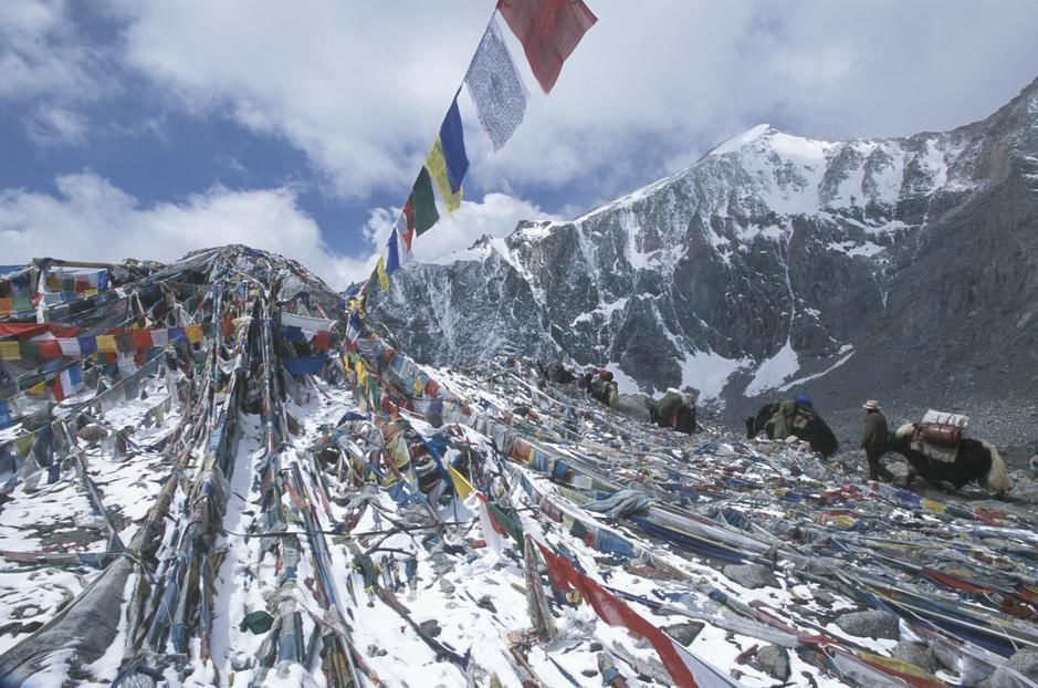 Pilgrims and Prayer flags at Domala Pass, Mount Kallas. [Photo of the day - May 2011]