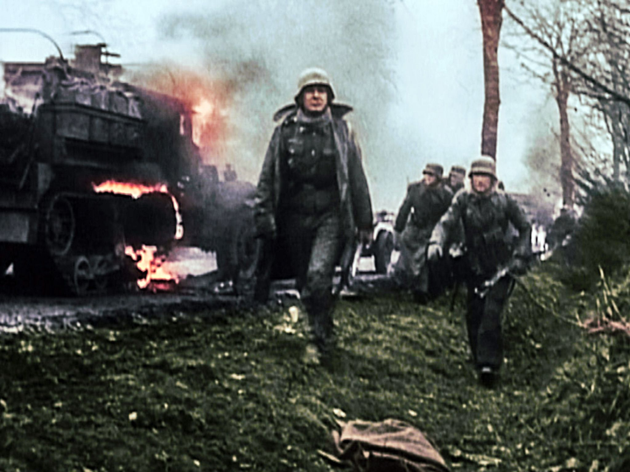 German soldiers during their offensive in the Bulges. This image is from Surrender. [Photo of the day - October 2015]