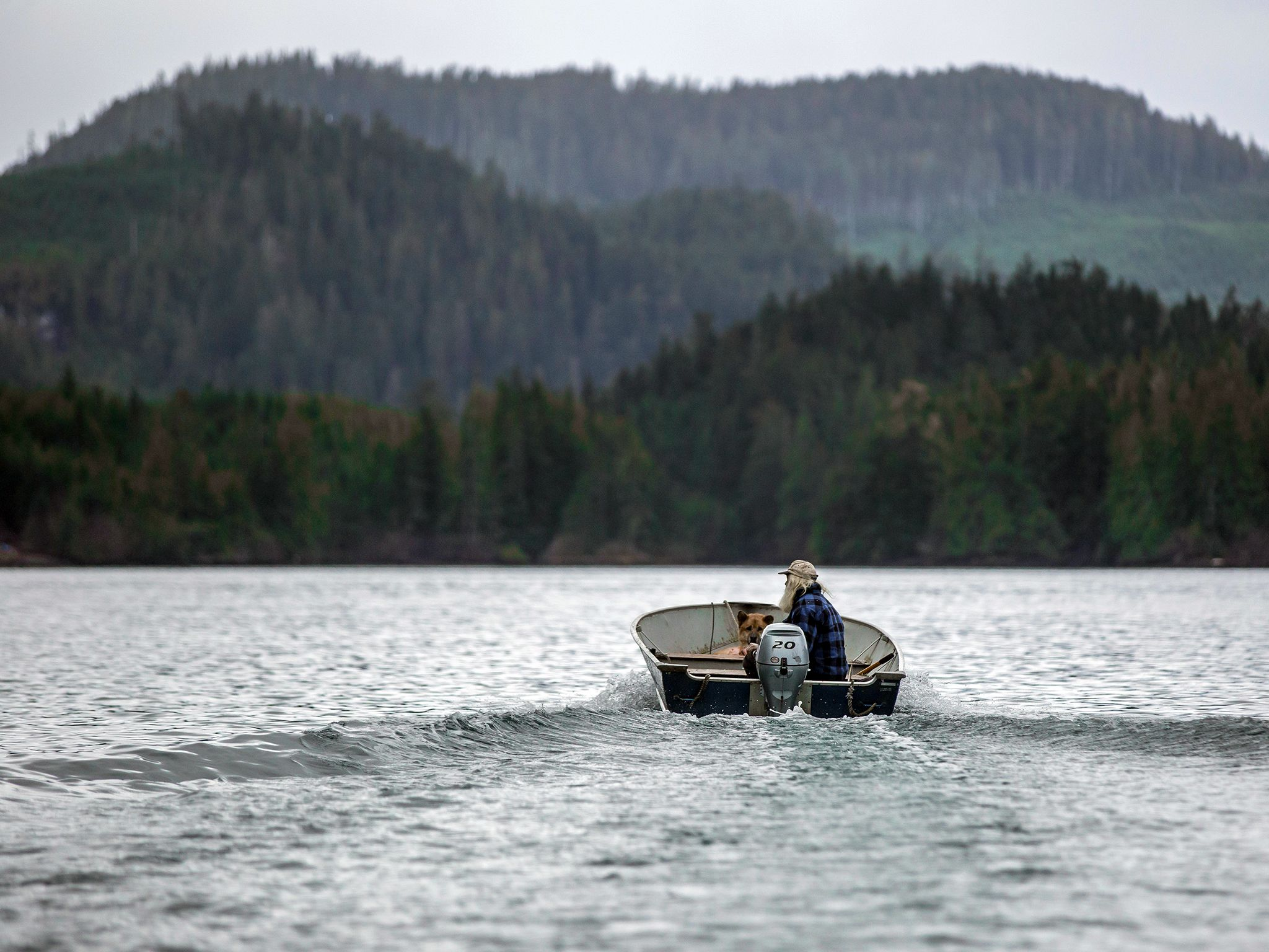 Port Protection, Alaska: Gary drives his boat to the place where he wants to forage for clams.... [Photo of the day - November 2015]