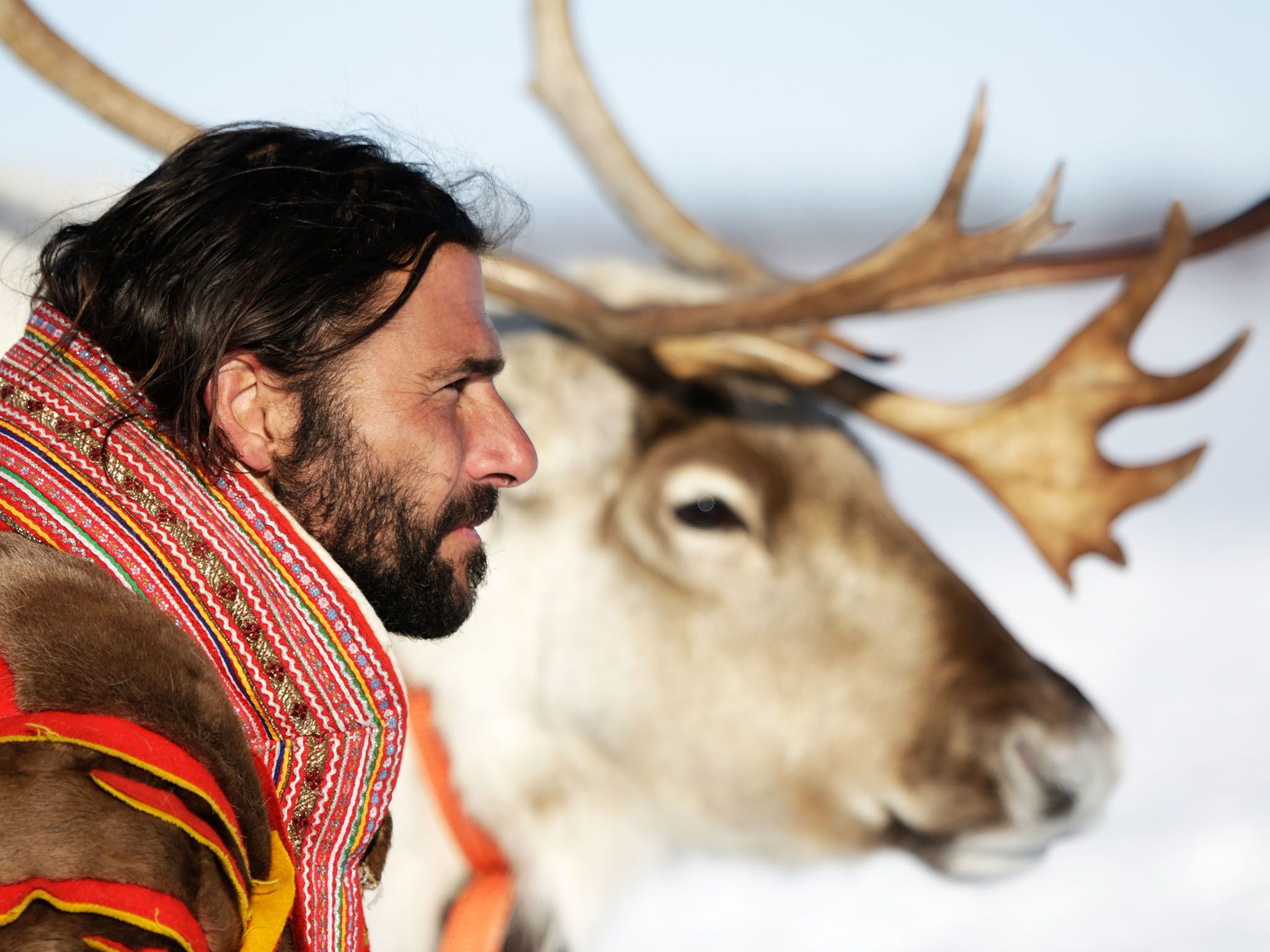 Norway: Hazen with his reindeer stag. This image is from Primal Survivor. [Photo of the day - January 2016]