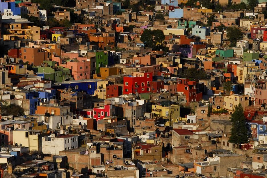 Colourful houses in the Guanajuato Cityscape. [Photo of the day - June 2011]