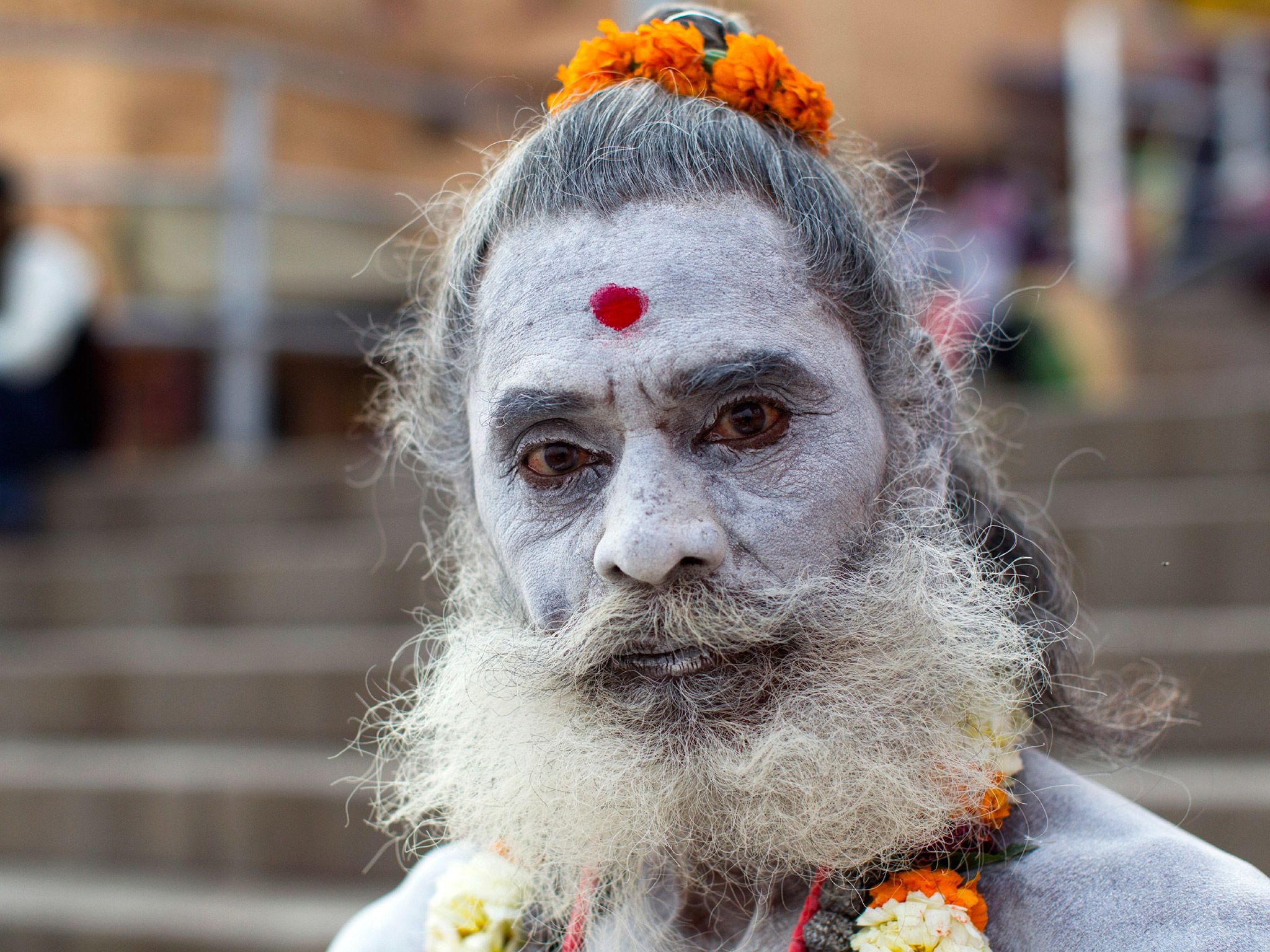 Portrait of a Sadhu in India. This image is from The Story of God with Morgan Freeman. [Photo of the day - April 2016]