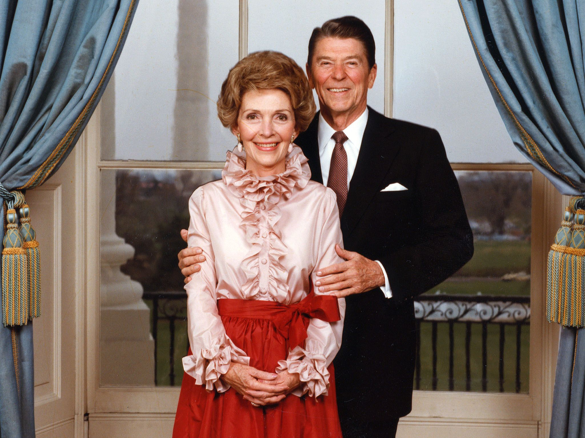 Portrait of President Ronald Reagan (1911 - 2004) with First Lady Nancy Reagan, taken in the... [Photo of the day - April 2016]