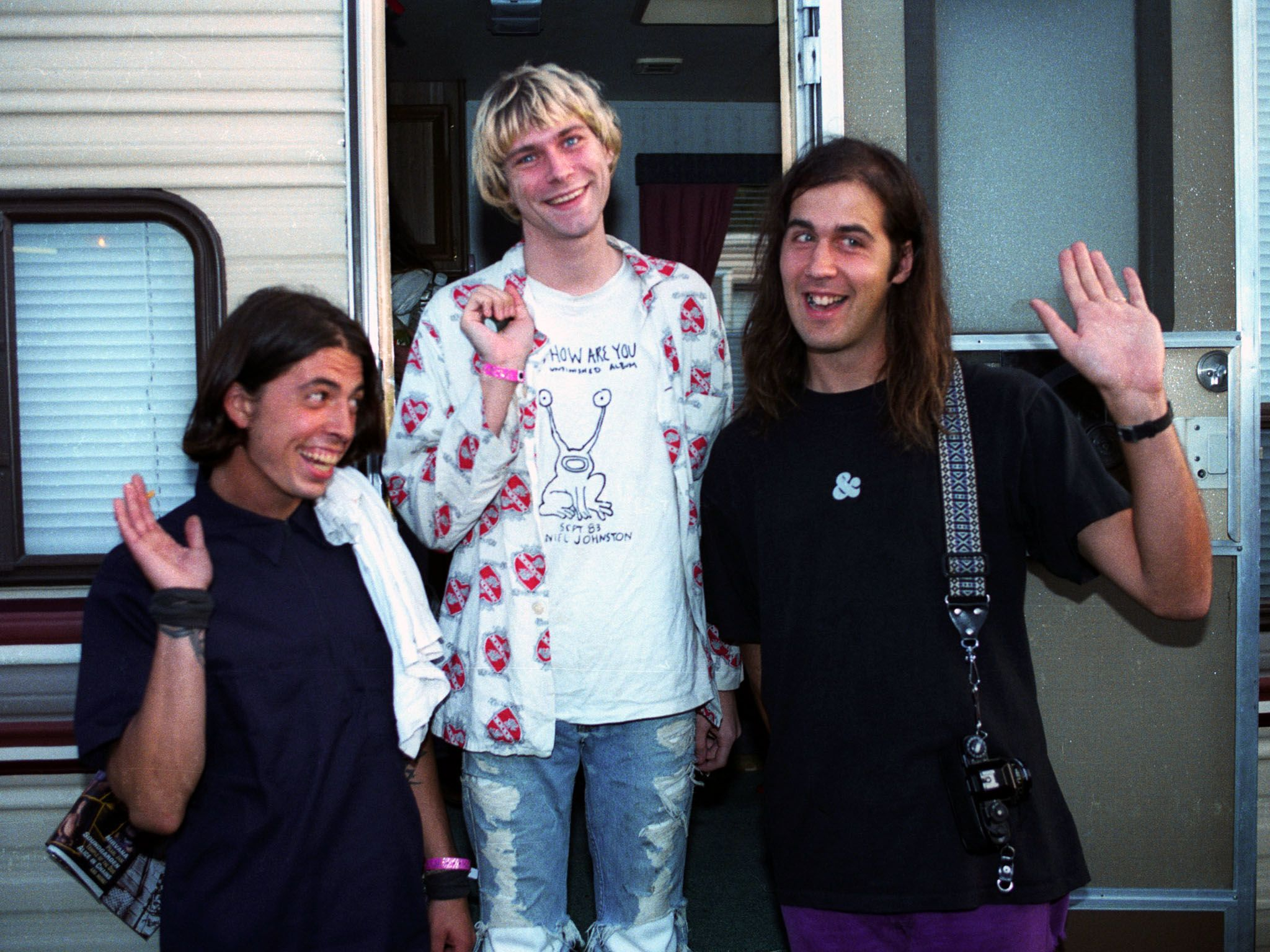 Dave Grohl, Kurt Cobain and Kirst Novoselic of Nirvana. This image is from Generation X. [Photo of the day - April 2016]