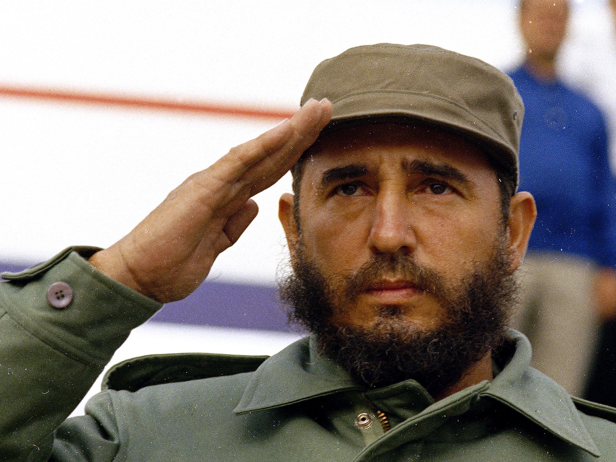 Havana, Cuba: Cuban Prime Minister Fidel Castro is shown saluting in 1971 wearing his customary... [Photo of the day - June 2016]