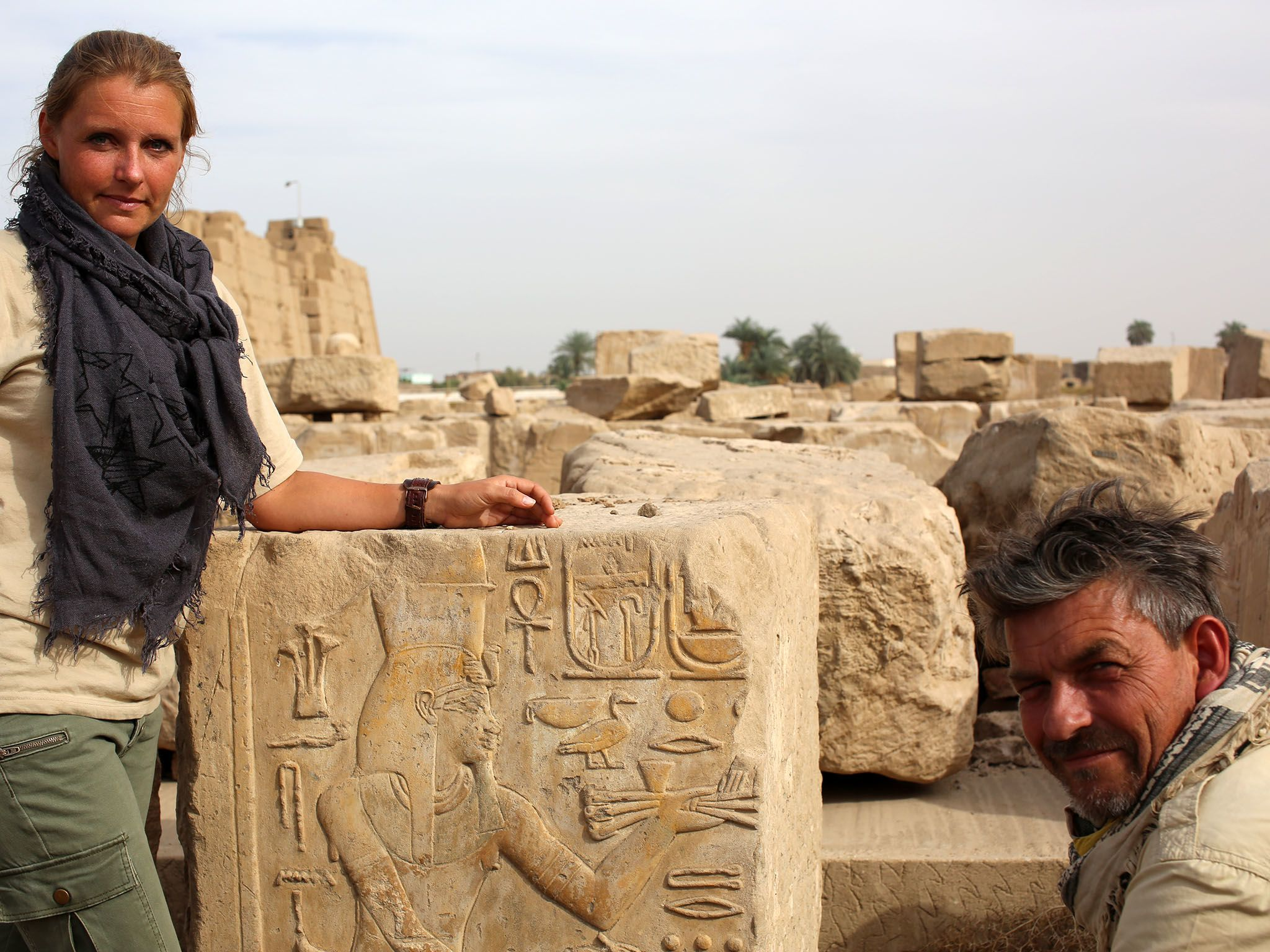 Luxor, Egypt: Maria Nilsson and John Ward at Karnak Temple. This image is from Egypt's... [Photo of the day - June 2016]