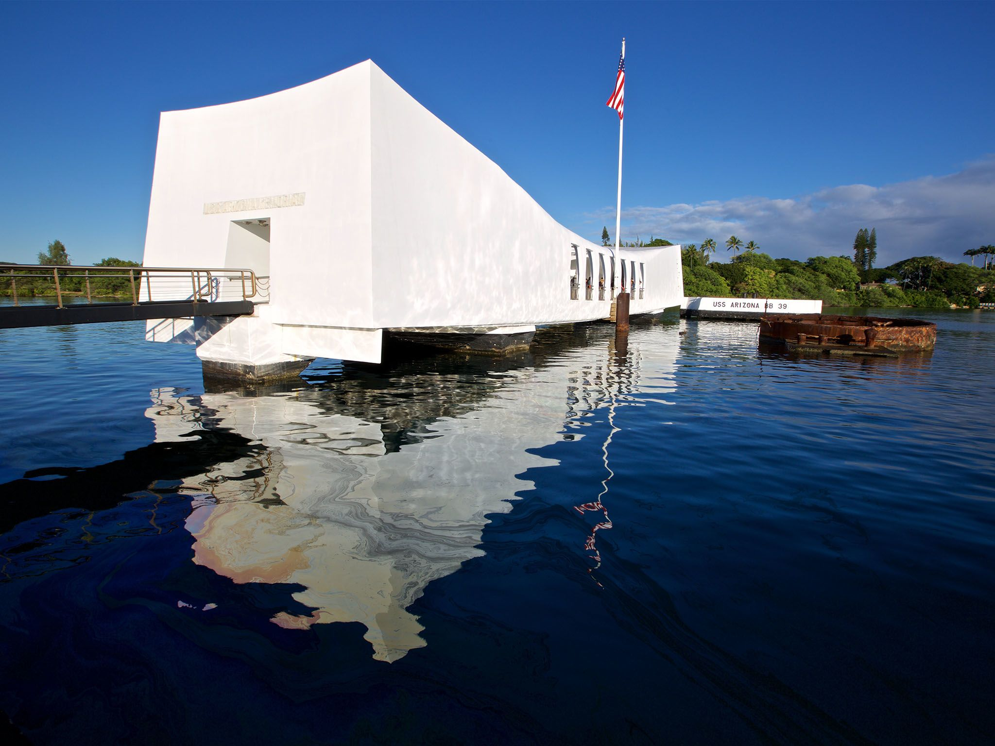 Pearl Harbor, Hawaii: Arizona War Memorial, Pearl Harbour.  This image is from Drain the Ocean:... [Photo of the day - August 2016]