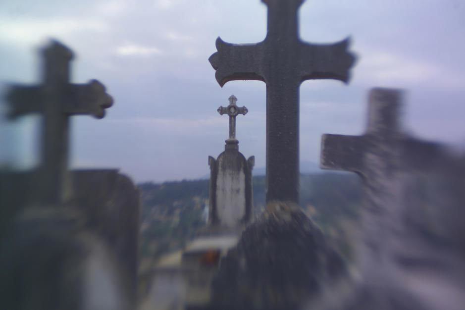 Gravemarkers in the cemetery near St Paul de Vence. [Photo of the day - July 2011]