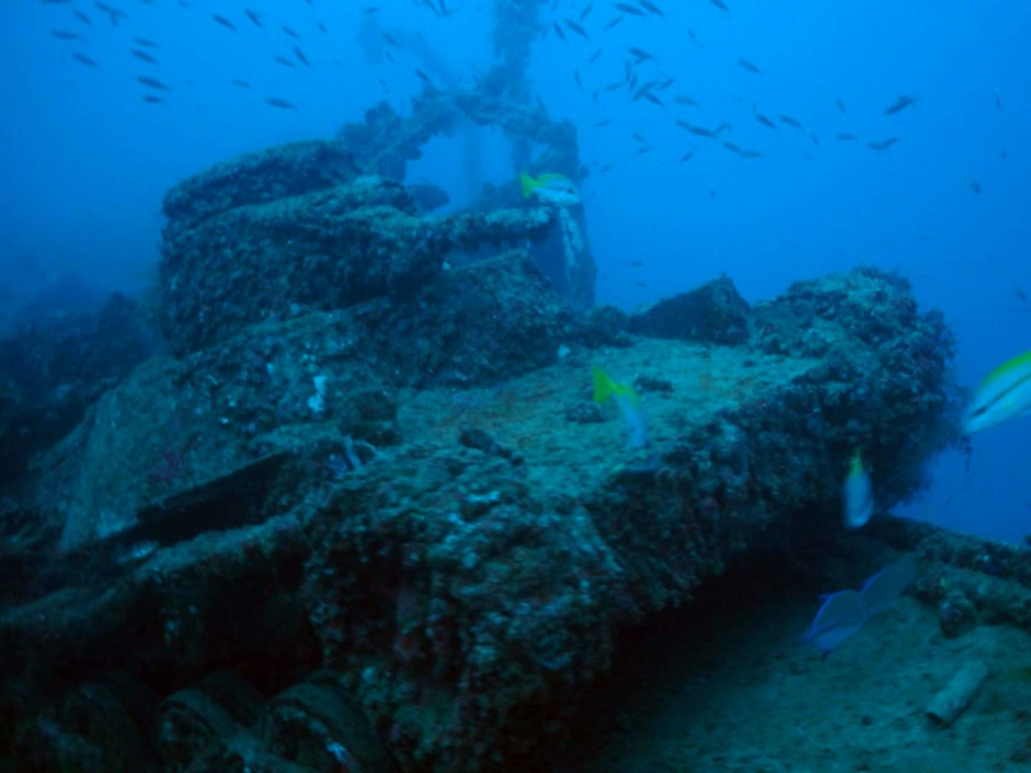 Truk Lagoon: Underwater footage of Truk Lagoon. This image is from Drain the Ocean: WWII. [Photo of the day - August 2016]