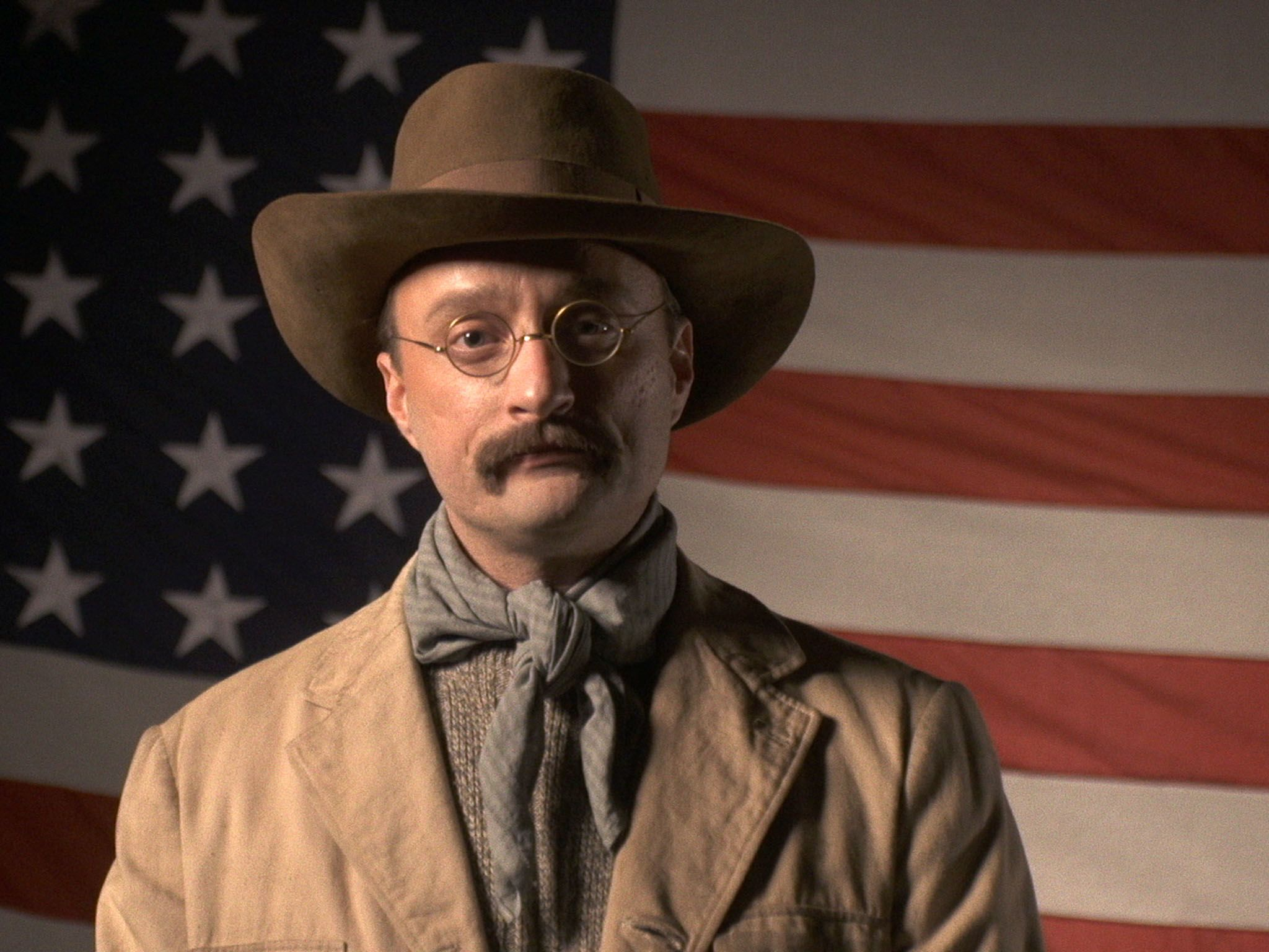 Reenactment: Teddy Roosevelt (played by Jack Elliot) speaks about land conservation. This image... [Photo of the day - September 2016]