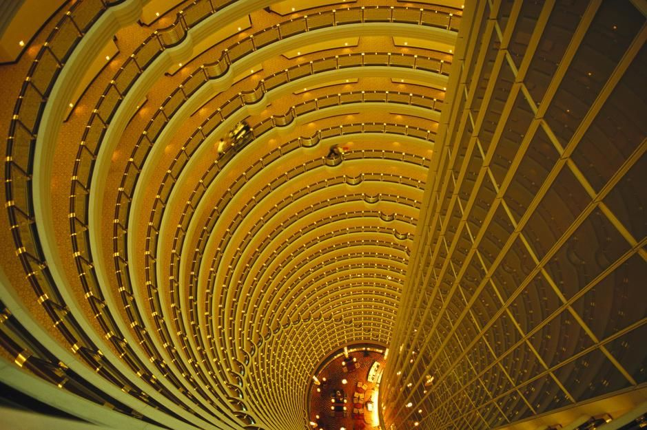 The Jin Mao Tower looking down from the Grand Hyatt Hotel in Shanghai. People's Republic of China. [Photo of the day - August 2011]