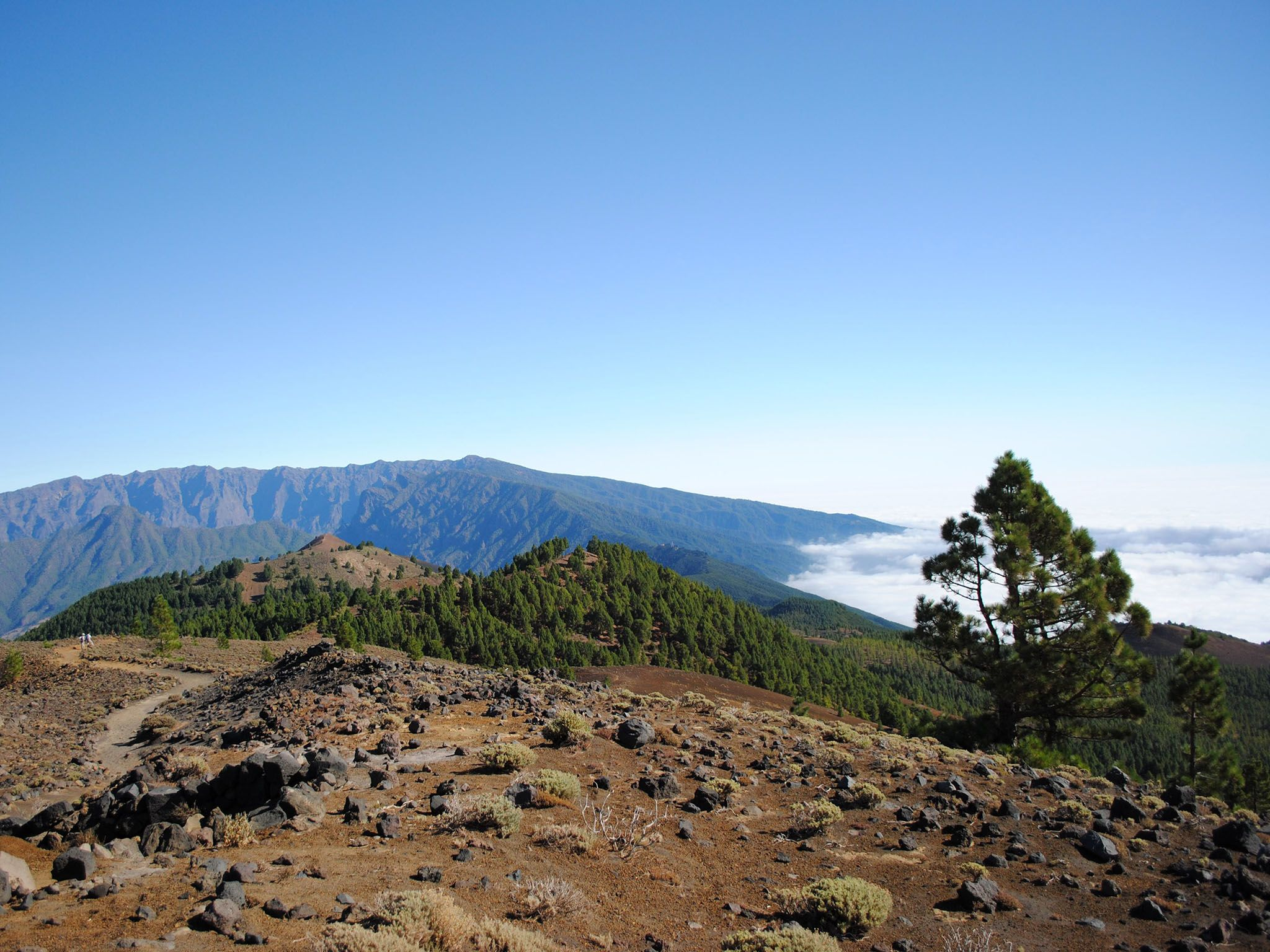 La Palma, Canary Islands, Spain: North facing view of La Palma island, from Cumbre Veija facing... [Photo of the day - October 2016]