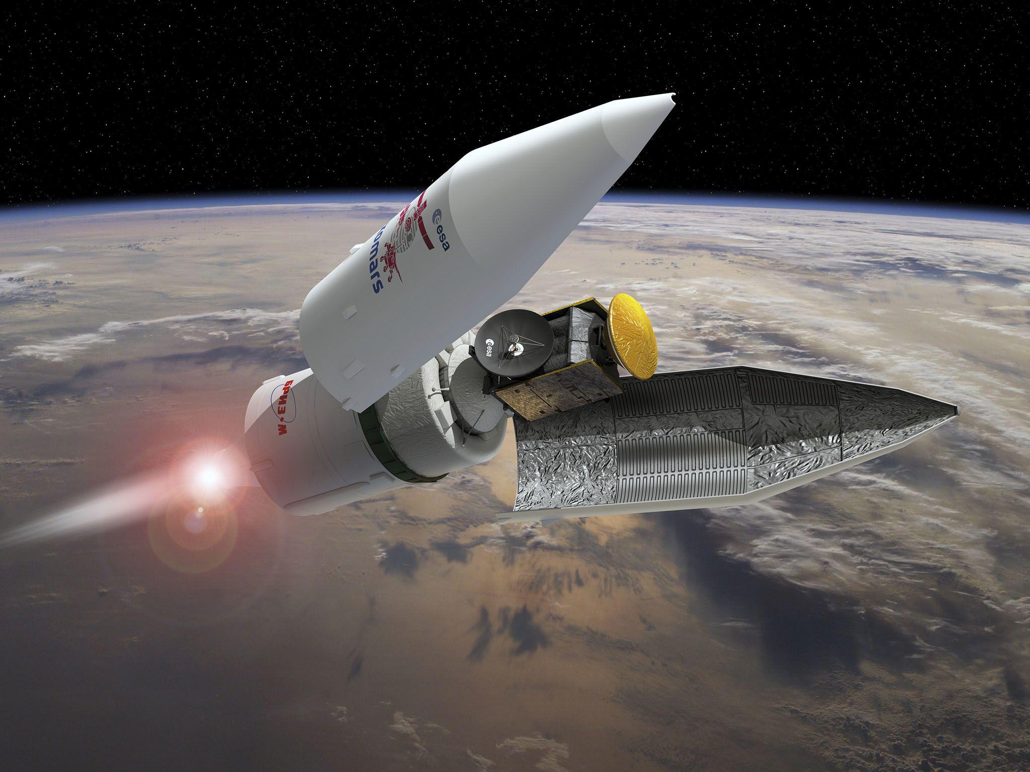 انفصال مقدمة المكوك الفضائي في مراحل انطلاق بعثة... [Photo of the day - أكتوبر 2016]