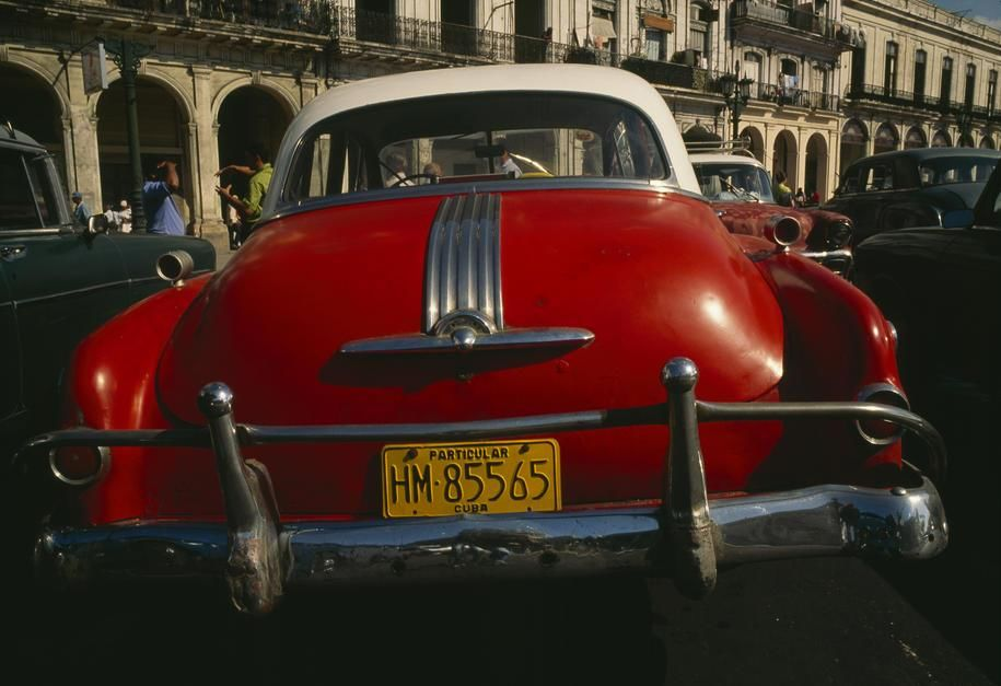Vintage cars parked on a Havana street. [Photo of the day - June 2011]