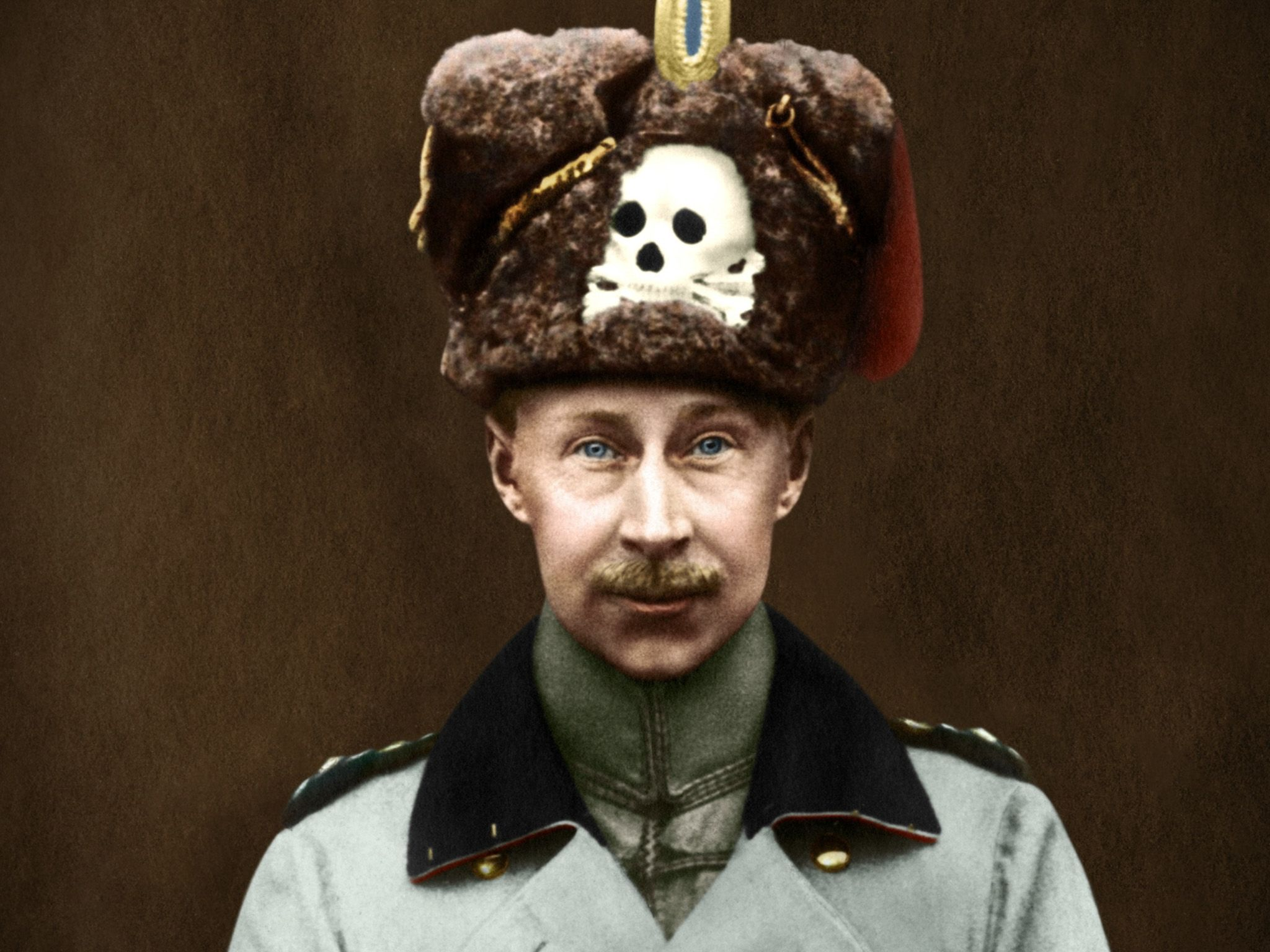 The Kronprinz (crown prince) Wilhelm of Prussia, with the skull and crossbones, the emblem of... [Photo of the day - December 2016]