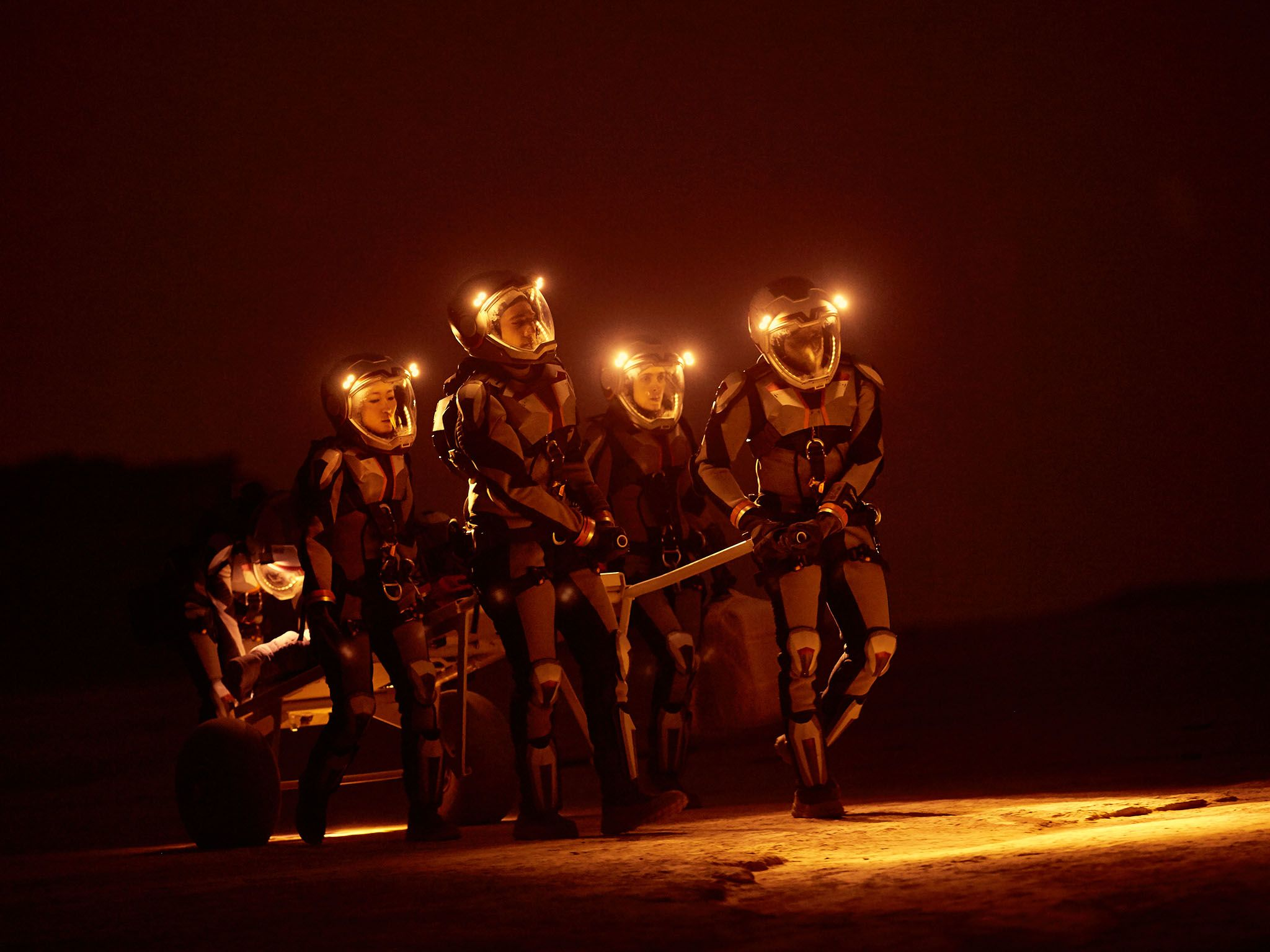 Reenactment: The crew on Mars. This image is from Mars. [Photo of the day - December 2016]