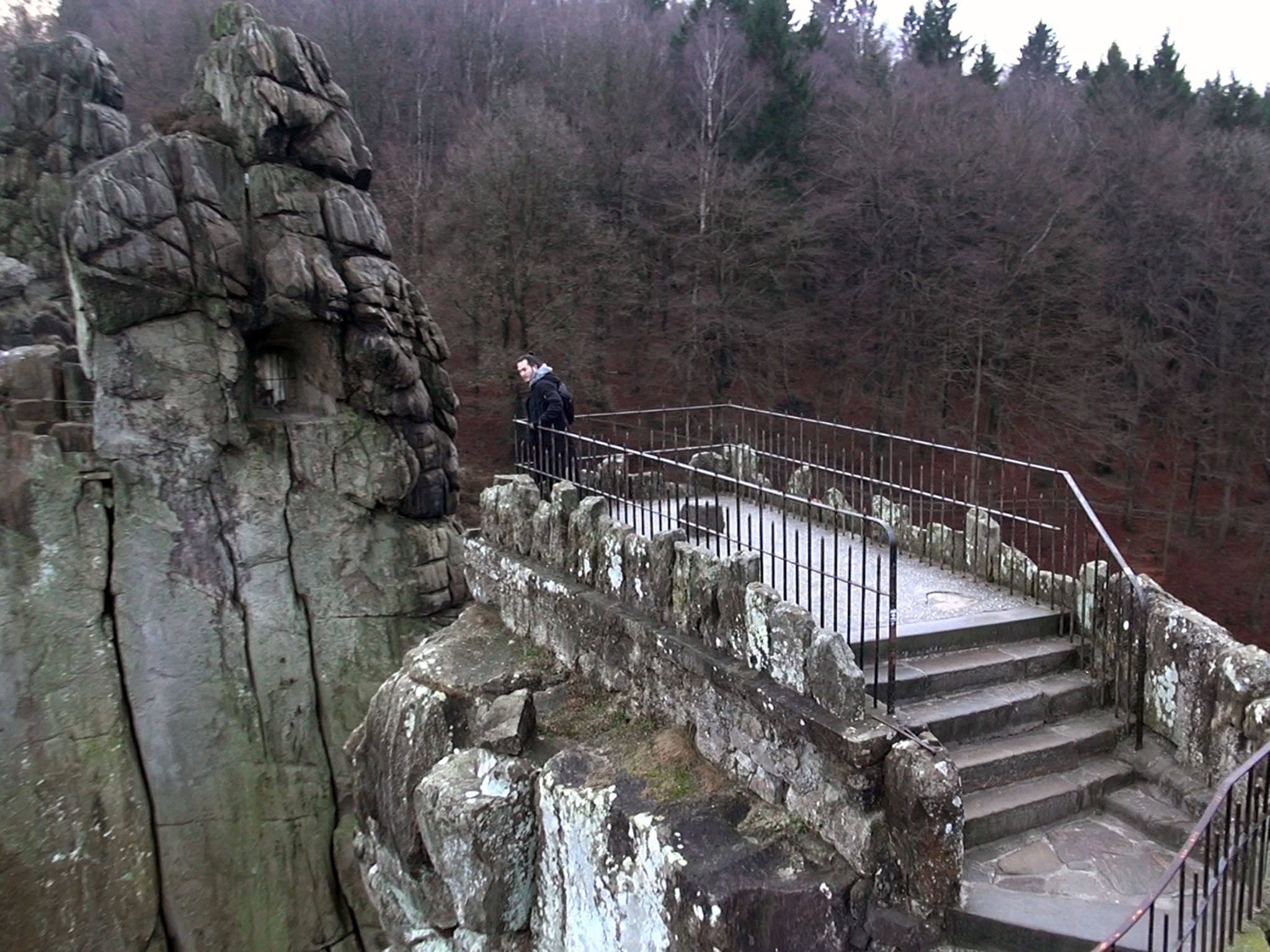 Externsteine, Germany: Robert Joe explores Externsteine looking for reasons why Himmler was... [Photo of the day - December 2016]