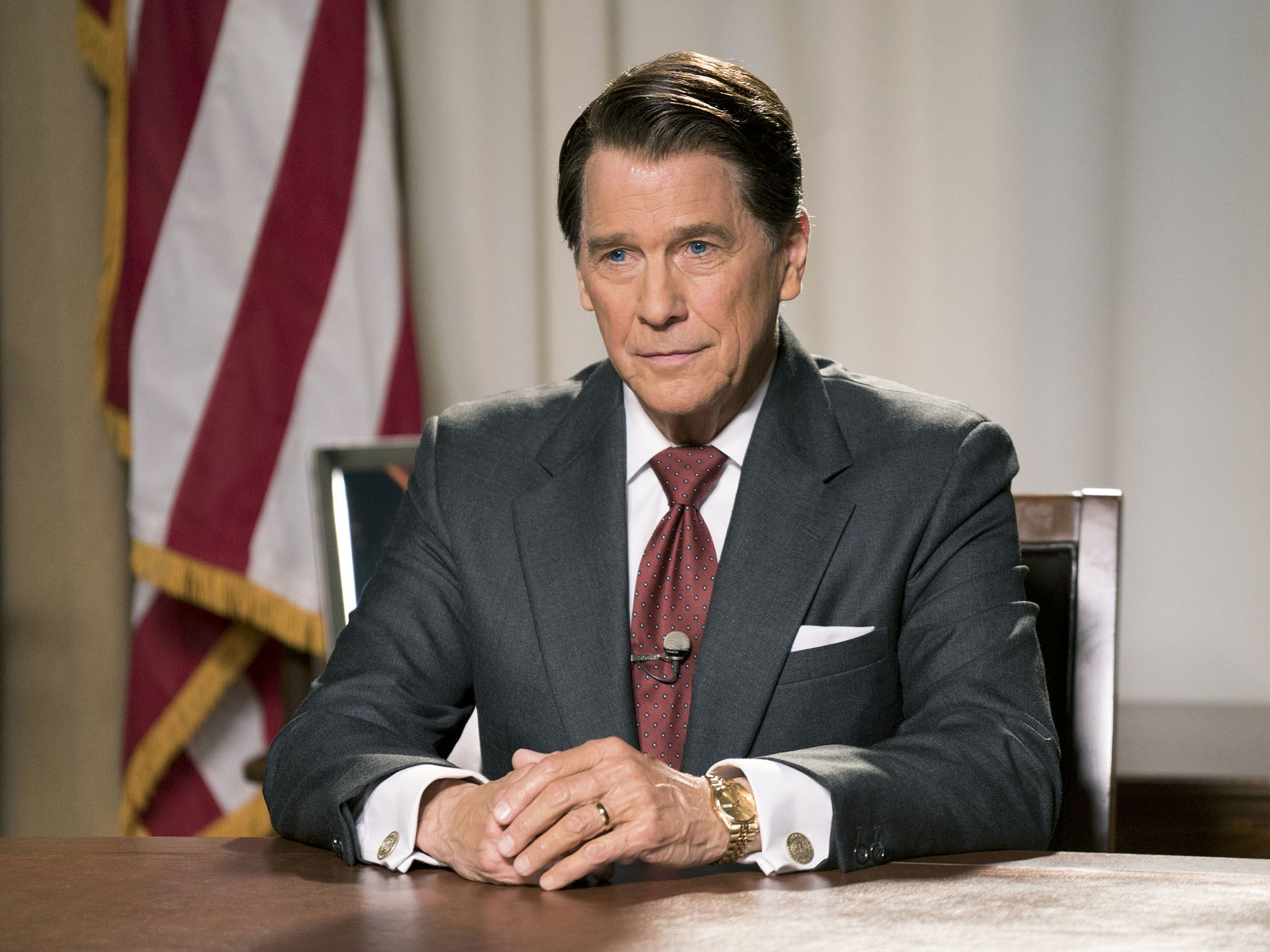 Tim Matheson (as Ronald Reagan) in Killing Reagan.  This image is from Killing Reagan. [Photo of the day - January 2017]
